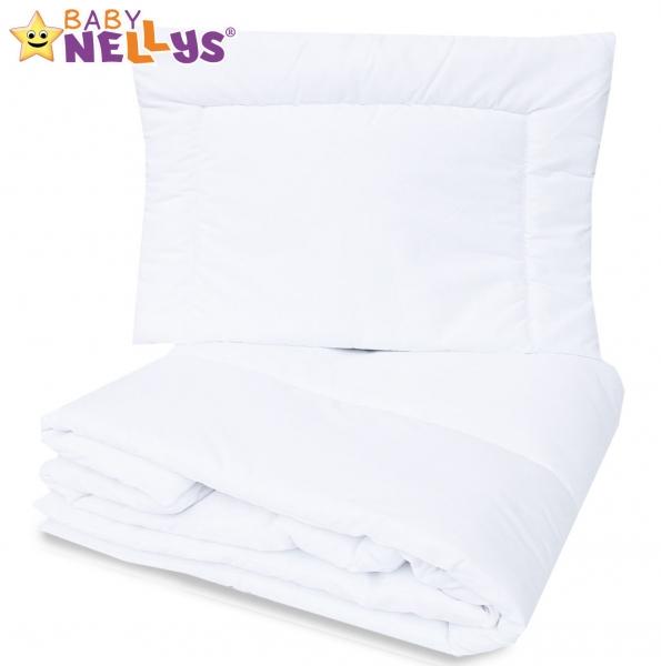 Perinka a vankúš do postieľky Baby Nellys - biele, 120x90 cm