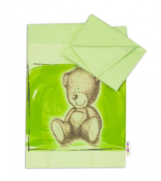 Baby Nellys 2-dielne obliečky do kolísky Sweet Dreams by Teddy - zelená