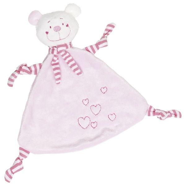 Goki Muchláček Medvedík so srdiečkami - ružový