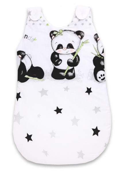 Baby Nellys Spacie vak Panda - biely, D19
