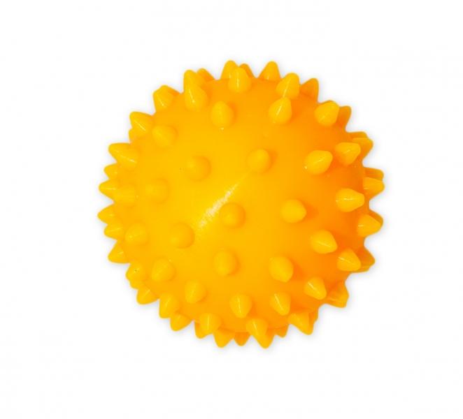 Farebná loptička / ježko, 1ks v krabičke - žltý