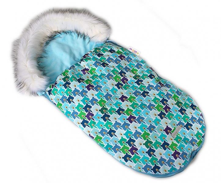 Fusak, spacáček 105x55 Velvet Winter Lux - Medvědí v mátě