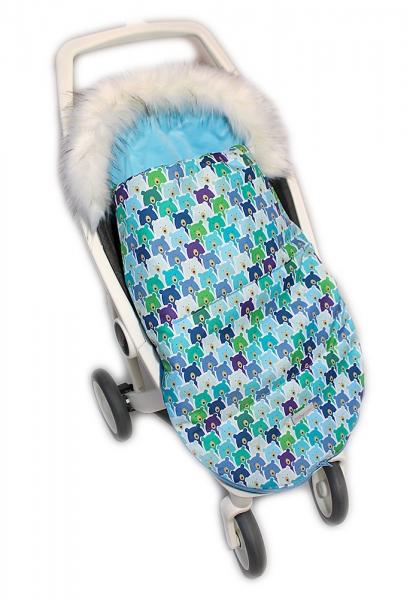 Baby Nellys Fusak, spacáček 105x55 Velvet Winter Lux - Medvědí v mátě