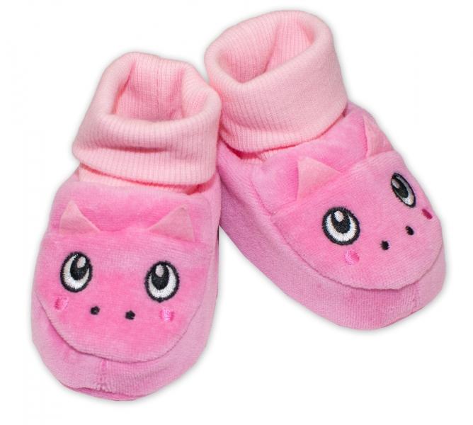 YO ! Topánočky / capáčky YO! Dráčik - ružové-0/6 měsíců
