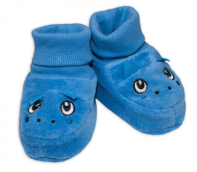 YO ! Topánočky / capáčky YO! Dráčik - modré-0/6 měsíců