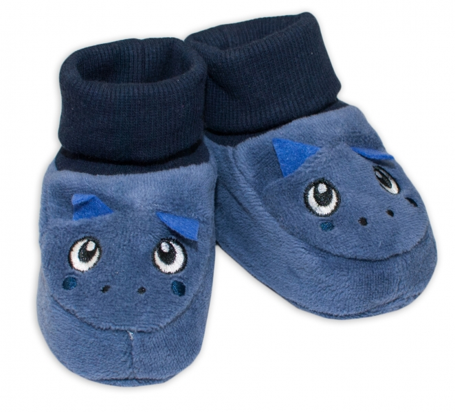 YO ! Topánočky / capáčky YO! Dráčik - tm. modré-0/6 měsíců