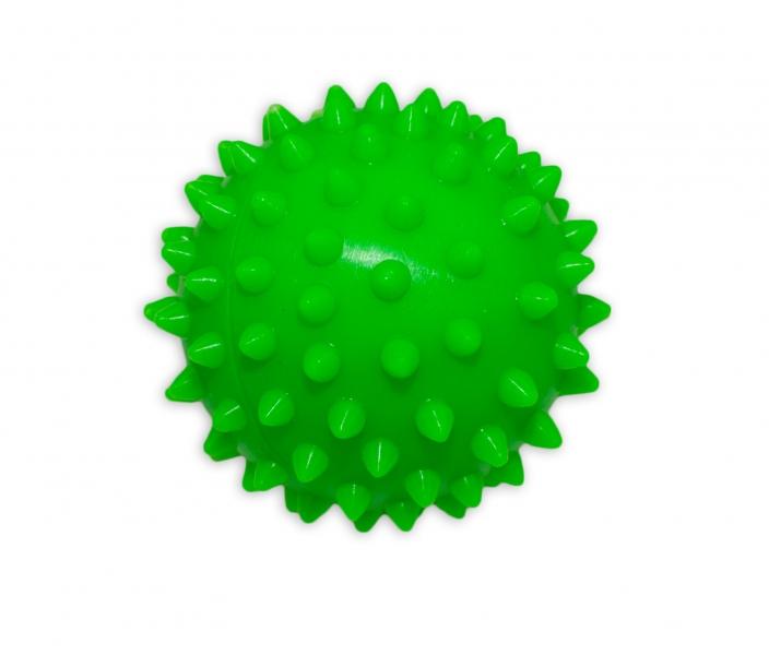 Farebná loptička / ježko, 1ks v krabičke - zelený