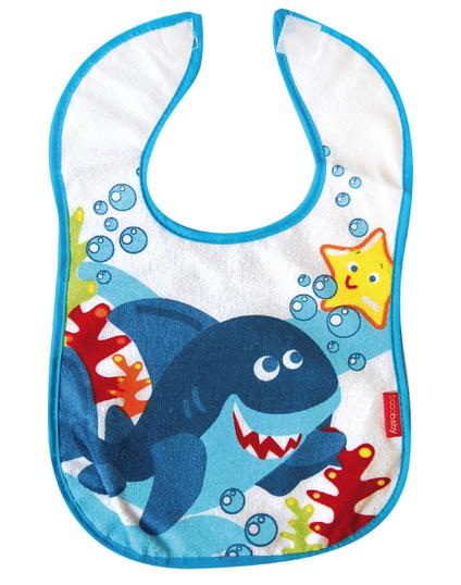 BOBO BABY Dvojvrstvový froté podbradník - Žralok