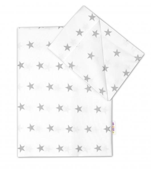Baby Nellys Bavlnené obliečky 135x100 - Hviezdičky v bielej