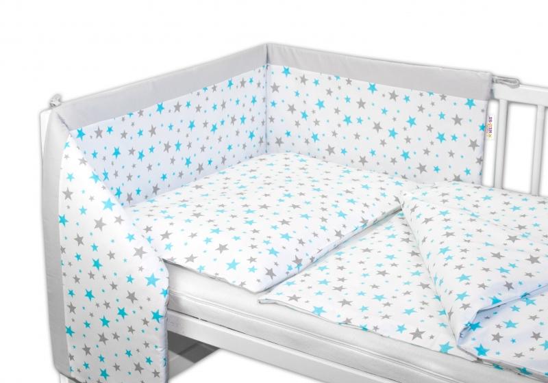 Mantinel s obliečkami Baby Nellys ® Hviezdičky mini 135x100 cm - ružové