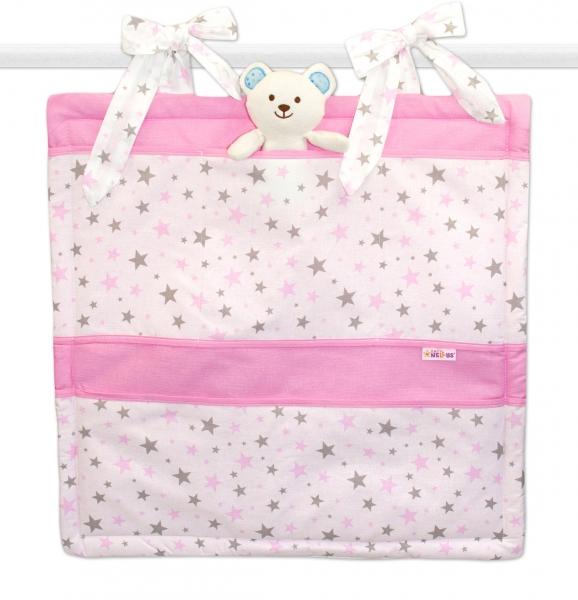 Vreckár Baby Nellys ® Hviezdičky mini - ružové