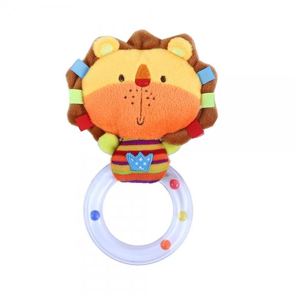 Hrkálka plyšové lev s kruhom BABY lev
