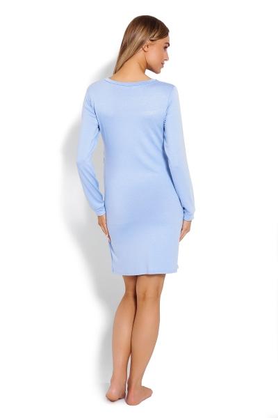 Tehotenská, dojčiaca nočná košeľa Mráčky - sv. modrá