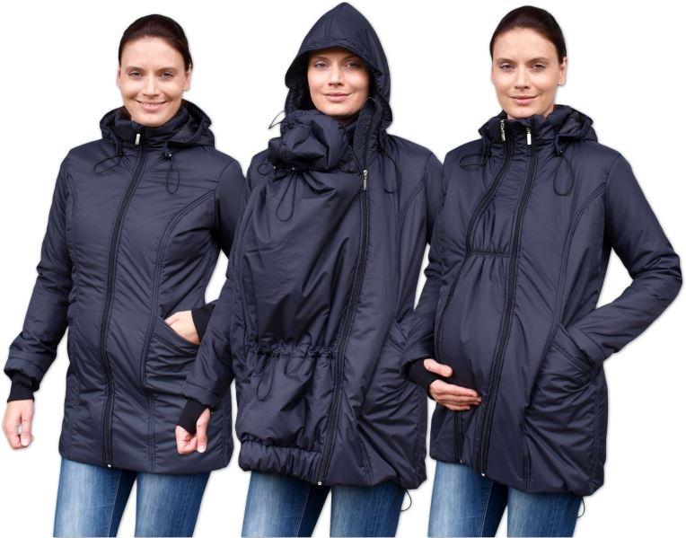 JOŽÁNEK Zimná bunda pre tehotné / nosiacie - vyteplená, čierna