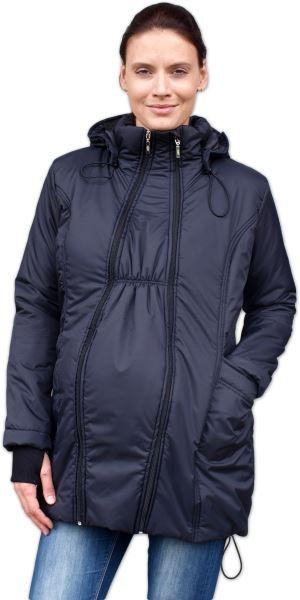 JOŽÁNEK Zimná bunda pre tehotné / nosiacie - vyteplená, čierna, veľ. M/L