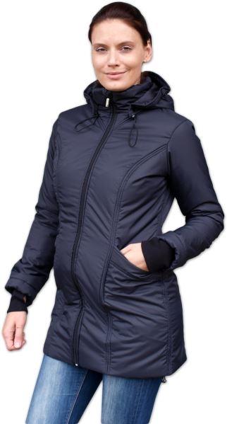 JOŽÁNEK Zimná bunda pre tehotné / nosiacie - vyteplená, čierna, veľ. L/XL
