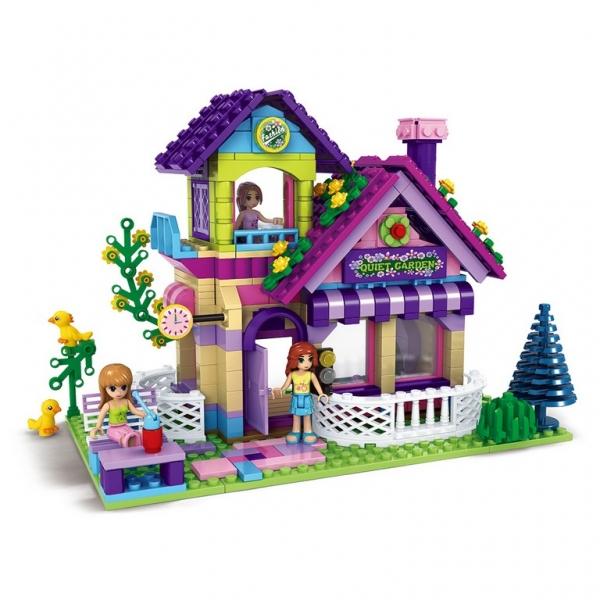 Rappa Stavebnica Ausin dievčenský svet veľký záhradný domček 507 dielikov