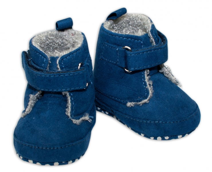 YO ! Zimné capačky/botičky YO! - tm. modré-0/6 měsíců