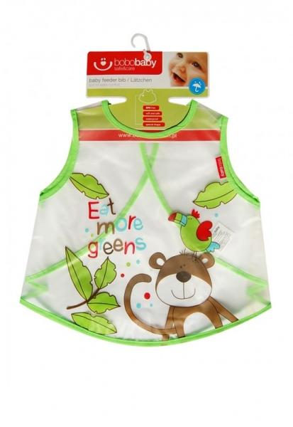 BOBO BABY Detská zásterka Opička - zelená