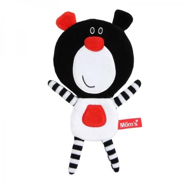Edukačná hračka Méďa šustík - čierny