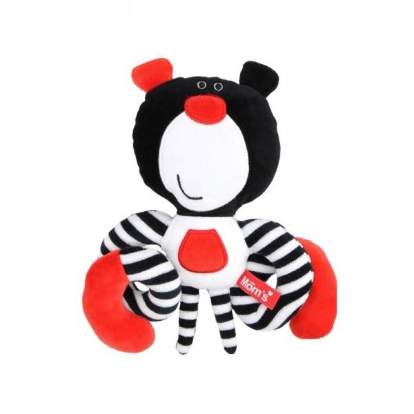 Hencz Toys Roztomilá edukačná hračka Méďa špirálka - čierna