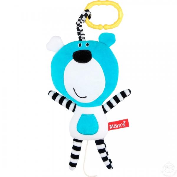 Hencz Toys Závesná edukačná /plyšová hračka Méďa s melódiou - tyrkysová