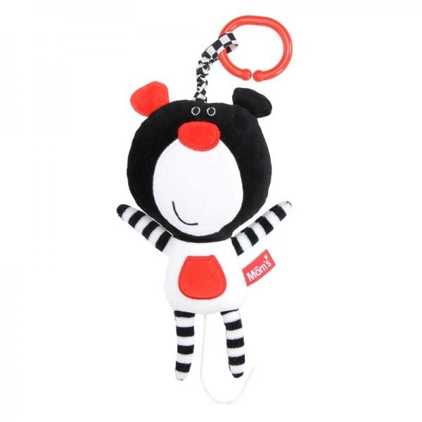 Závesná edukačná /plyšová hračka Méďa s melódiou - čierna