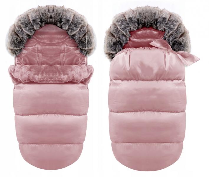 Luxusný fusak s kožuškom 4v1 ICE BABY 90x50cm - rúžový