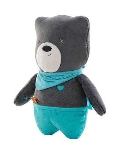 Szumisie Šumiaci maznáčik Medvedík Matt 25 cm - sivý / mätová