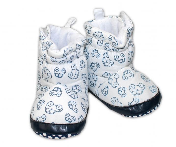 Zimné capačky/botičky YO! - biele-0/6 měsíců