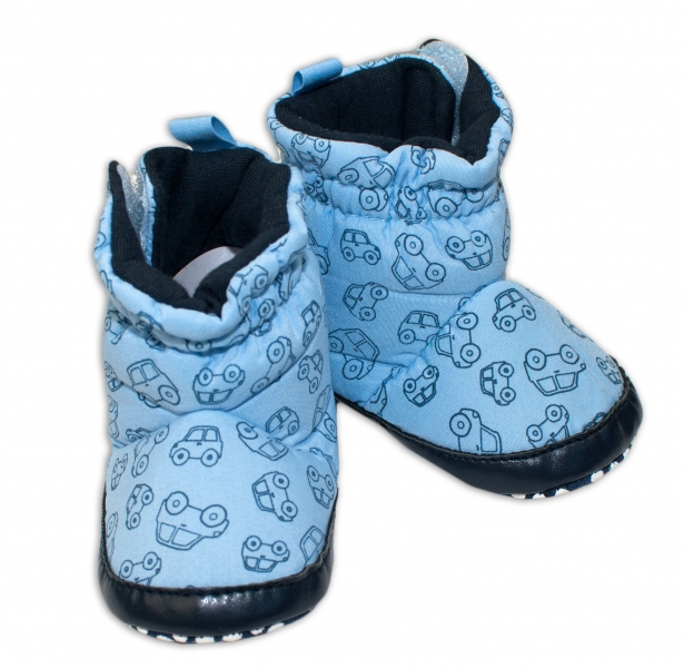 Zimné capačky/botičky YO! - tm. modré-0/6 měsíců