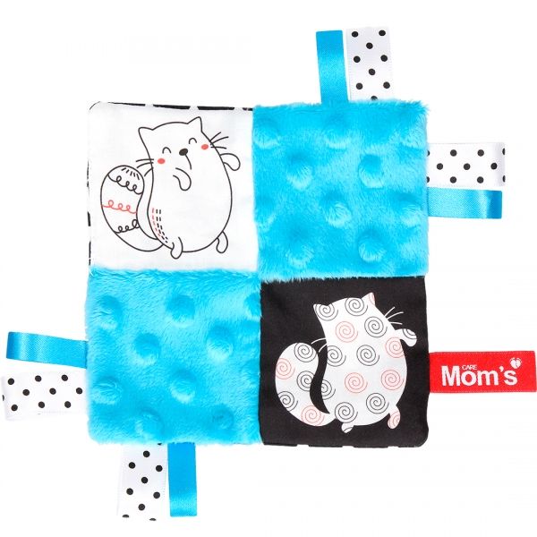 Hencz Toys Edukačná hračka šustík - mačky, tyrkysová