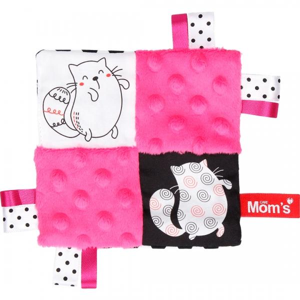 Hencz Toys Edukačná hračka šustík - mačky, ružová