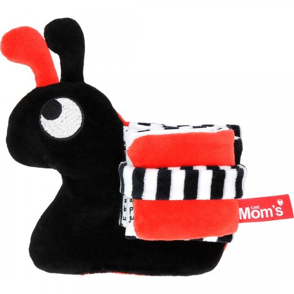 Hencz Toys Edukačná /textilná knižočka - slimák, čierno-červená