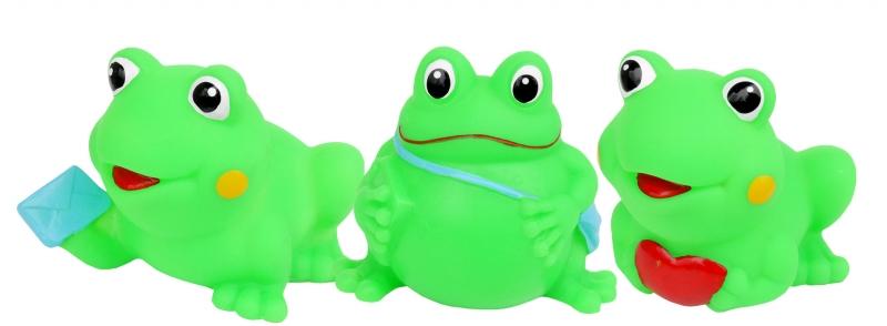 Hencz Toys Gumové zvieratka do vody - veselé žabky, 3ks v balení