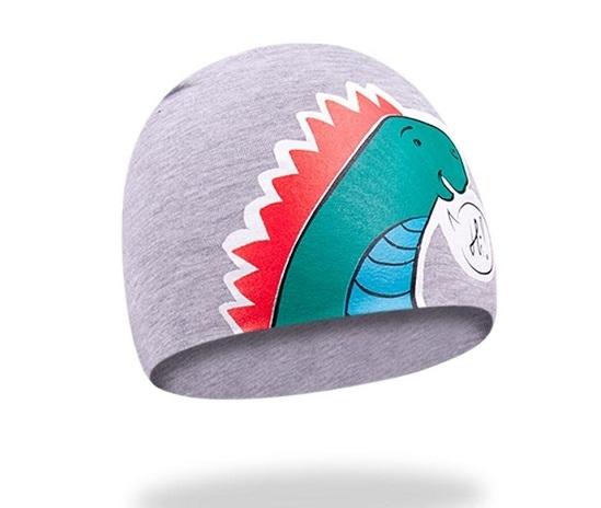 YO !  Bavlnená čiapočka YO! Hi Dino - šedá