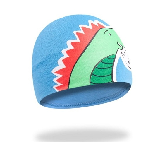 YO !  Bavlnená čiapočka YO! Hi Dino - modrá-48/50 čepičky obvod