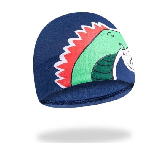YO !  Bavlnená čiapočka YO! Hi Dino - granátová-48/50 čepičky obvod
