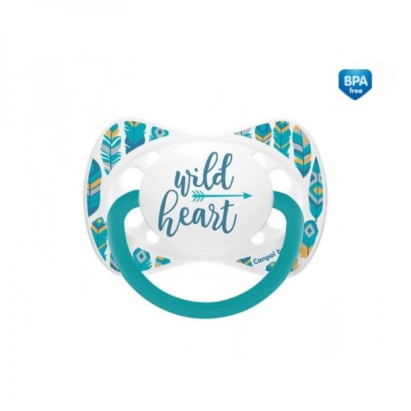 Canpol babies Cumlík symetrický Wild Heart 18m+ C -  tyrkysový