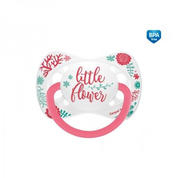 Cumlík symetrický Little Flower 6-18 B -  ružový-6/18měsíců