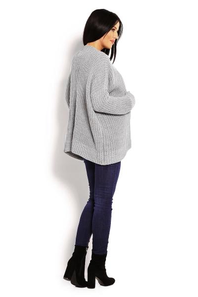 Be MaaMaa Tehotenský teplučký kardigan - šedý