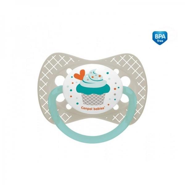 Cumlík symetrický Cupcake 6-18 B - sivý-6/18měsíců