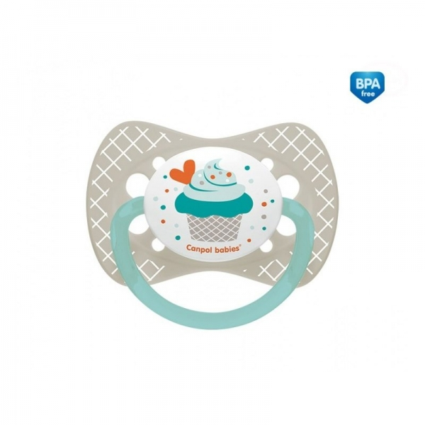 Canpol babies Cumlík symetrický Cupcake 18m+ C - sivý
