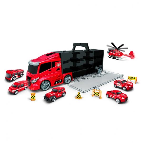 Rappa Auto hasiči v kufri 2v1 s dráhou