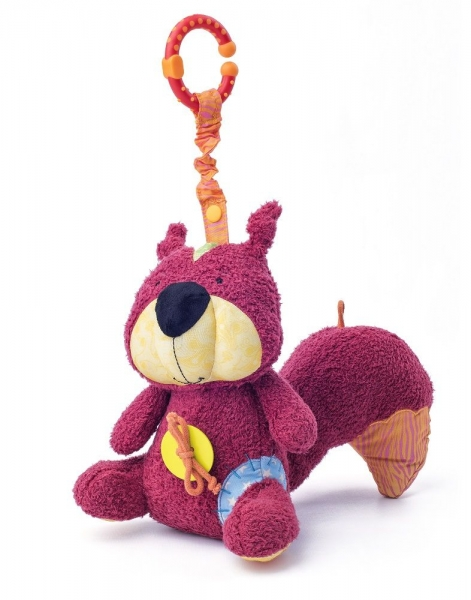 Niny Závesná plyšová hračka s hrkálkou Veverka Apia