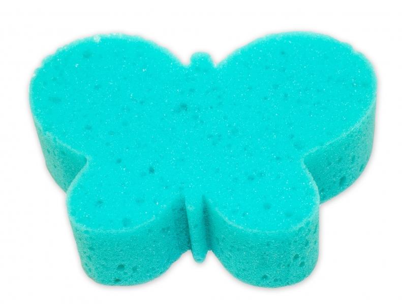 Detská kúpeľová huba - zvieratko, zelená