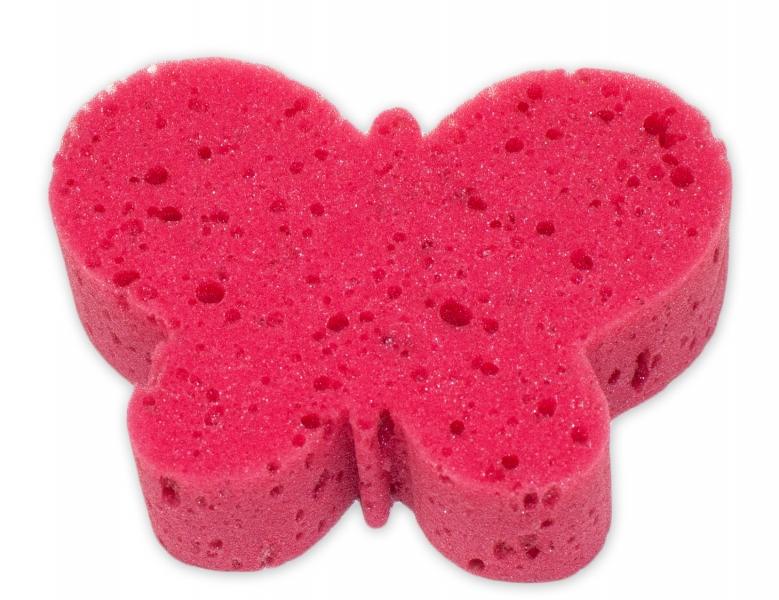 Detská kúpeľová huba - zvieratko, červená