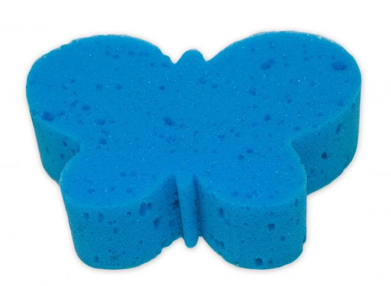 Detská kúpeľová huba - zvieratko, modrá