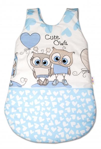 Spacie vak Cute Owls - modrý