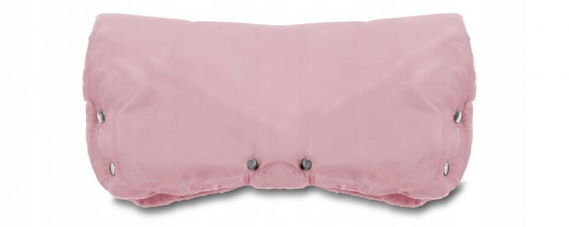 Rukávnik ku kočíku fleece - ružová